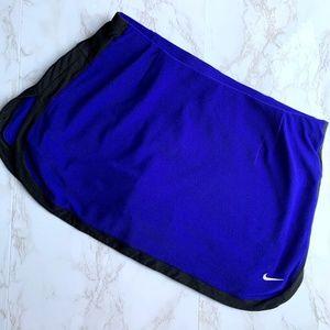 Nike Royal Blue and Black Active Skort Size Medium
